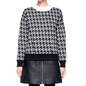 Theory Juneau Houndstooth Pullover Sweater XS